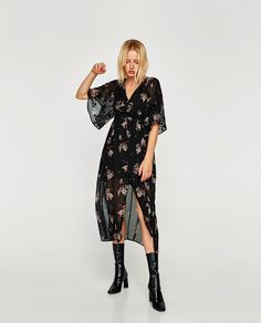 Zara langes kleid mit blumen