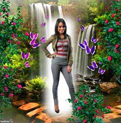 A beautiful waterfall - http://imikimi.com/main/view_kimi/11JRy-3Zl by artist: lissy005