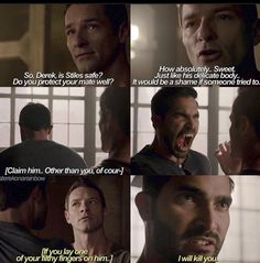 I love Protective!Derek, Possessive!Derek, CreeperWolf!Peter, Flirt!Peter and Haleslove!Stiles