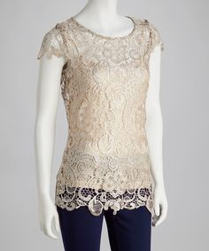 Take a look at this Silver Crochet Lace Top by Adore on #zulily today! $34.99, regular 80.00
