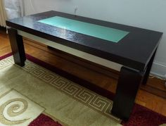 MOVING SALE: Modern Wood and Glass Coffee Table Black #Modern