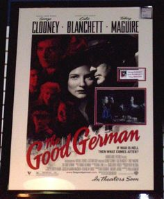 The Good German Movie Photo Signed by 3 - Antiquities
