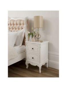 white shabby chic bedroom furniture - interior designs for bedrooms Shabby Chic Bedroom Furniture, Baroque Furniture, Shabby Chic Bedrooms, French Furniture, French Bedside Tables, Bedside Table Design, Bedroom Paint Colors, Interior Paint Colors, Interior Design