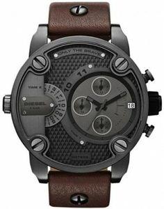 Relógio Diesel Chronograph with Date Leather Men's watch #DZ7258 #Diesel#Relógio