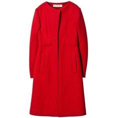 Coat Marni ($950) ❤ liked on Polyvore