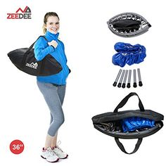 Mini Foldable Carry On Fitness 36 Inch Trampoline For Exercise Adults Teens Children Cardio Workout Fitness Training Health Gym Jump Pad Physical Education Indoor  Outdoor Home Use ZEE DEE >>> Click image for more details.