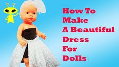 👗 DIY NEW Clothes Cute Dress For Baby Dolls Tutorial Toddler Girls