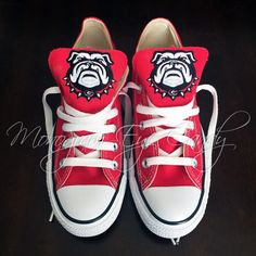 cf12357fb8a9 Customized Converse Sneakers- Bulldogs Edition