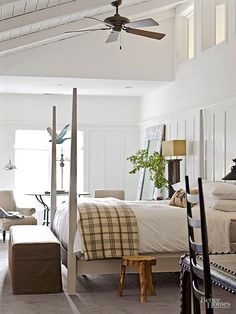 Modern farmhouse style combines the traditional with the new makes any space super cozy. Discover best rustic farmhouse bedroom decor ideas and design tips. Winter Bedroom, Cozy Bedroom, Bedroom Ideas, Bedroom Designs, Tranquil Bedroom, Budget Bedroom, Bedroom Inspiration, Farmhouse Bedroom Decor, Farmhouse Inn