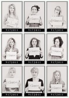 Morning after mugshots! Great Idea ... How funny!!!
