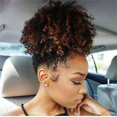 Clip in afro hair high black kinky curly human hair drawstring ...