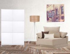 Wit en beige. Een mooi frisse combinatie perfect voor zowel een kleine en een grote ruimte. Voeg een subtiel kleur accent toe en de kamer is helemaal compleet!
