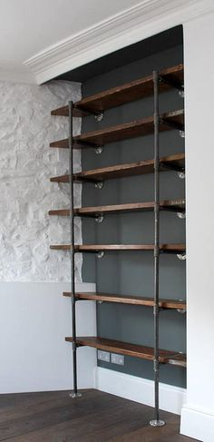 Everyone Can Make! 36 DIY Pipe Bookshelves Design Ideas