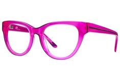 These retro gx cat-eye frames in electrifying hues will have you channeling your favorite pop star in no time. Pink Eyeglasses, Eyeglasses Frames For Women, Pink Glasses Frames, Fashion Eye Glasses, Cute Cosplay, Cat Eye Frames, Pink Eyes, Eyewear, Glitter