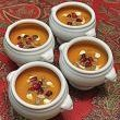 Butternut Squash Soup screams Autumn and Thanksgiving to me, so I set out perusing recipes. When I found the one below, with Bosc pears, leeks, white wine and brandy, I knew I had a winner...