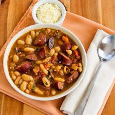 ... Recipe for Cannellini Bean and Sausage Stew with Tomatoes and Basil