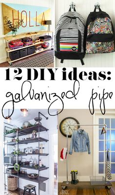 12 great ideas for galvanized pipe projects