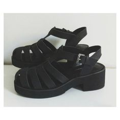 shoes fashion sandals black shoes grunge summer shoes summer medium heels flat sandals beach shoes black chunky sandals jellies 90s grunge 90s style 90s grunge romper soft grunge pastel pastel goth street goth goth hipster goth hipster jeffrey campbell grunge shoes all black everything platform shoes white tumblr pale black heels want them straps buckle open toes black\ leather platform sandals black jelly shoes chunky heels black caged sandals mandal white or black color they are also…