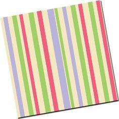 Chocolate Transfer Sheet: Stripes - Lime Fuchsia & Lavender - 25 Sheets