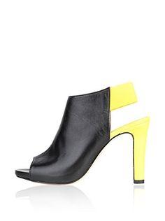 Versace 1969 Zapatos abotinados (Negro / Amarillo)