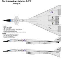 Valkyrie Type Strategic bomber Supersonic research aircraft Manufacturer North American Aviation Maiden flight 21 September 1964 Status Retired fr. Military Jets, Military Weapons, Military Aircraft, Delta Wing, Experimental Aircraft, Airplane Art, Air Space, Aircraft Design, Aviation Art