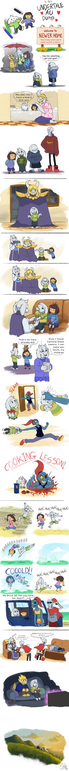 ((THIS IS ADORABLE Ohmygod)) Undertale AU - SketchDump by TC-96.deviantart.com on @DeviantArt