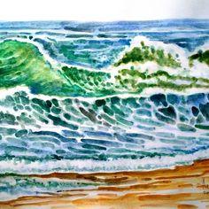 Galura Laut Kidul (Pemanasan 2)Gambar ini sebuah upaya tanggapan kesungguhan menanggapi tawaran exhibition project dari para sahabat senior cc: Pa Basuki Bawono, Bank Zoel dkk, sepertinya saya butuh pemanasan dulu hingga menemukan passion terbaik. Sebelum memilih kanvas sebagai media, cat air dulu aja#art #painting #watercolor #wave #sea #laut #lautkidul Cat Air, Waves, Watercolor, Outdoor, Instagram, Watercolour, Outdoors, Watercolor Painting, Outdoor Games