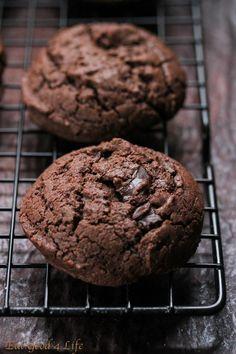 Eat Good 4 Life » Gluten free double chocolate chunk cookies