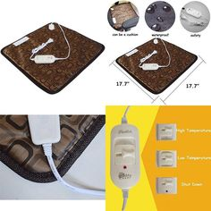 Pet Heating Pad Indoor Outdoor Cat Dog Bed Kennel Doghouse Heater for Pets NEW #CreationCore