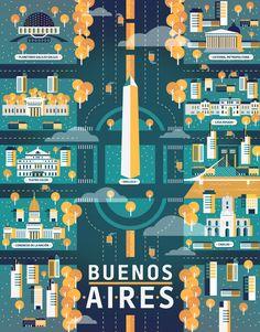 Arte y Arquitectura: la ilustración de cinco ciudades y sus atractivos por Aldo Cusher