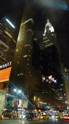 Chrysler Building, 42nd Street New York City view, Summer Night 2009  by Offgridminds