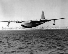 "1947~Howard Hughes Built the Largest Flying Boat in the World, THE SPRUCE GOOSE. Stated by Hughes, ""If the Plane Doesn't Make It, I'll Probably Leave the Country & Never Come Back, and I Mean It""....Oh Howard...You Were a Genius, A Million/Billionaire, and Weren't Afraid to TRY Anything Once!"