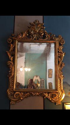 Espejo antiguo madera , con su espejo original antiguo - 38960056 - Casa y Hogar