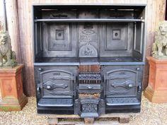 Merveilleux Kitchen Design   Ideas And Picture   Kitchen Worktops : Chic Antique  Wood Burning Kitchen