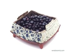 Ceramic Berry Bowl Handmade ceramic colander square ceramic