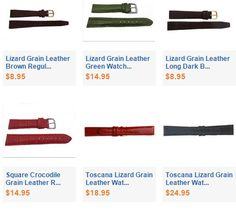 Lizard Grain Leather Watch Bands