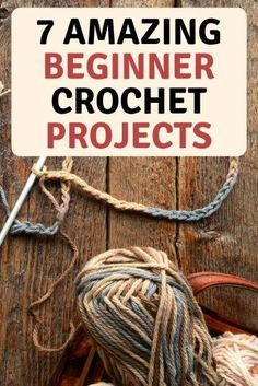 7 amazing crochet patterns for beginners. Hats, scrafts, blankets slippers and more. Crochet for yourself or give as gifts. 7 amazing crochet patterns for beginners. Hats, scrafts, blankets slippers and more. Crochet for yourself or give as gifts. Beginner Crochet Projects, Crochet Basics, Free Crochet Patterns For Beginners, How To Crochet For Beginners, Easy Beginner Crochet Patterns, Knitting Beginners, Beginner Embroidery, Crochet Gifts, Crochet Baby