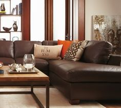 Modern Sectional Sofas Natuzzi Editions Trieste II Italian Tanned Leather Sectional Sofa In Walnut