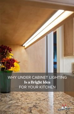 Under provides the 3 types of kitchen lighting that every designer seeks: task, safety and ambient lighting. When combined with a thoughtful kitchen lighting plan, under cabinet light Bright Kitchen Lighting, Kitchen Under Cabinet Lighting, Light Kitchen Cabinets, Kitchen Lighting Design, Kitchen Buffet, Diy Kitchen Decor, Kitchen Lighting Fixtures, Interior Design Kitchen, New Kitchen