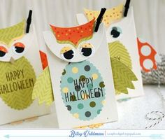 Owl Treat Bags by Betsy Veldman for Papertrey Ink (August 2014)