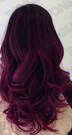 Delightful magenta hair color