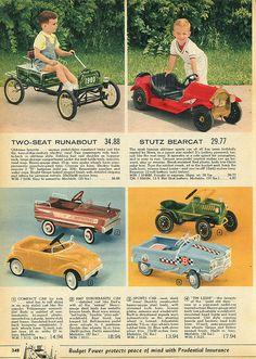 Pedal cars 1962 Spiegel Christmas Catalog