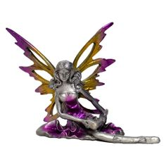 Pewter Fairy Figurine/Statue For Decoration by RedNWhite on Etsy, $7.90