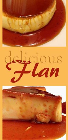 Delicious flan made with eggs and milk. Tastes so good.