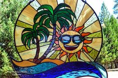 Stained Glass Suncatcher Endless Summer Sun with