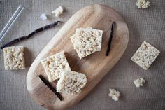 Vanilla Bean Rice Krispie Treats · The Crepes of Wrath Rice Crispy Treats, Krispie Treats, Rice Krispies, Dessert Bars, Dessert Recipes, Desserts, Vanilla Rice, Base Foods, Sweet Tooth