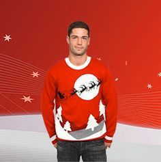 #Christmas #Sweater featuring Santa and his Sleigh