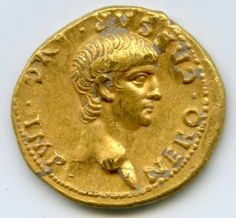 Rare, Gold Roman Coin Discovered In Jerusalem. Sept 2016 Nero, the Roman leader on the coin, ruled the empire from 54 to 68 AD, possibly lost during the Roman siege on Jerusalem in 70 AD. Rare Gold Coins, Gold And Silver Coins, Ancient Roman Coins, Ancient Rome, Ancient Greece, Ancient Aliens, Roman Emperor, Roman Art, World Coins