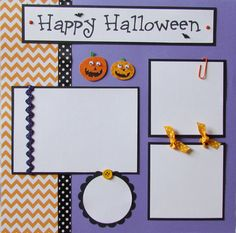 HAPPY HALLOWEEN 12x12 Premade Scrapbook Pages by JourneysOfJoy, $15.00