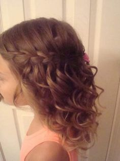 The Waterfall Style toddler girl hairstyles